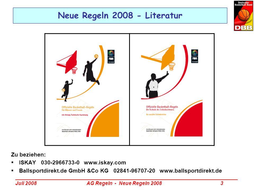 Neue Regeln 2008 - Literatur