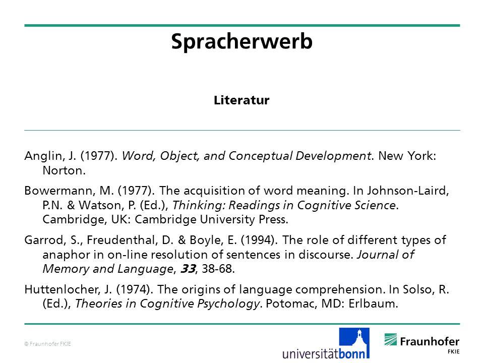 Spracherwerb Literatur