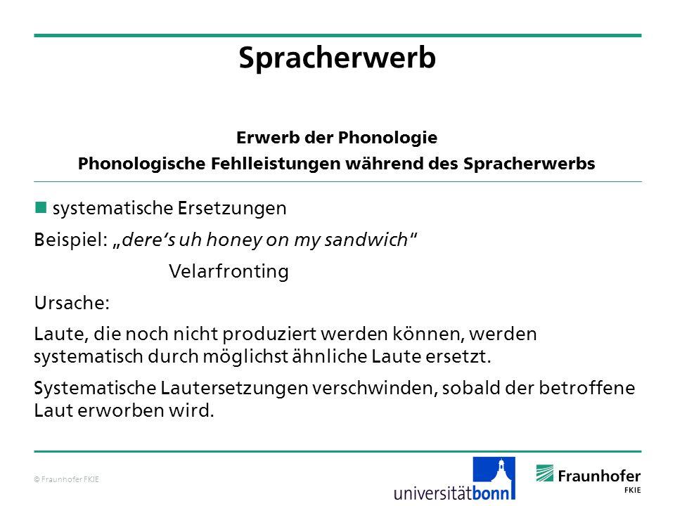 Phonologische Fehlleistungen während des Spracherwerbs