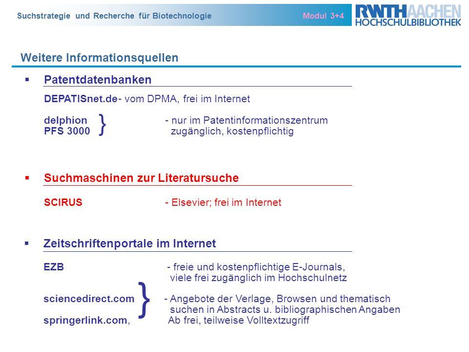 } } Weitere Informationsquellen Patentdatenbanken