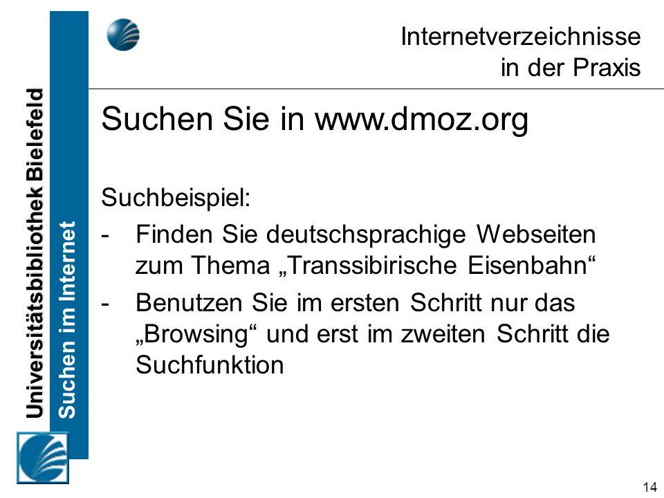 Suchen Sie in www.dmoz.org