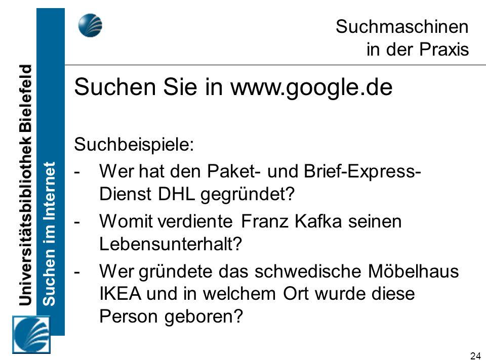 Suchen Sie in www.google.de