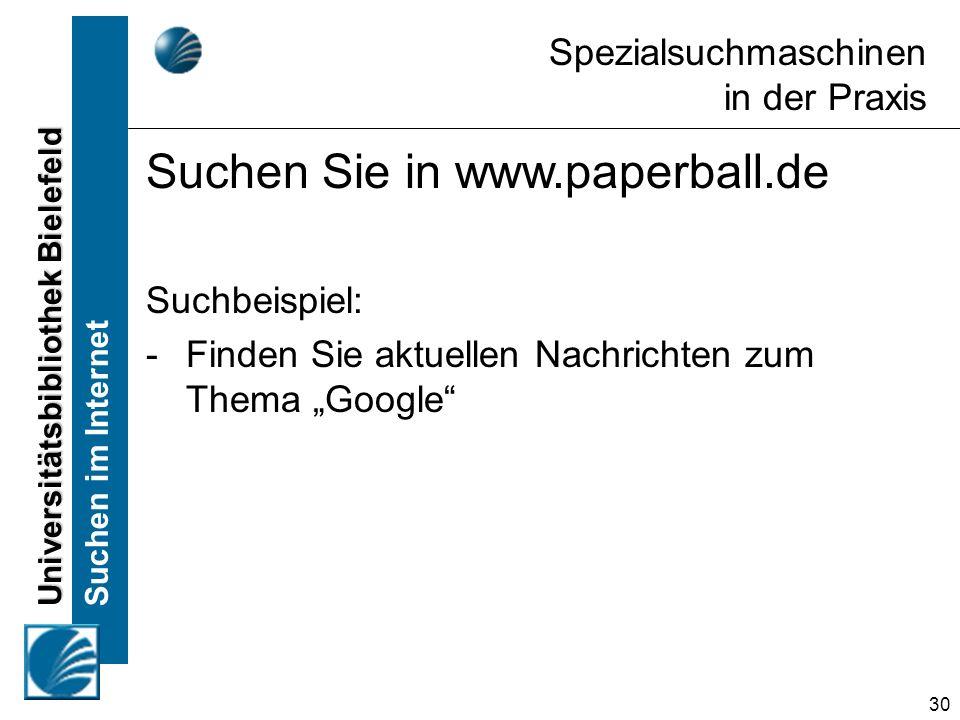 Suchen Sie in www.paperball.de