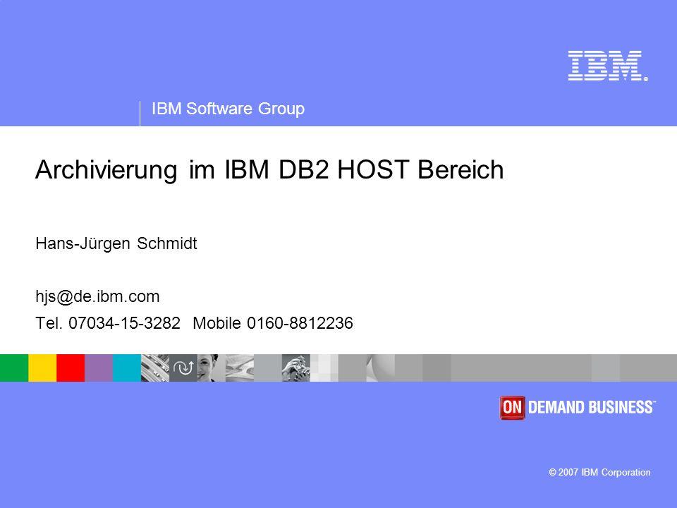 Archivierung im IBM DB2 HOST Bereich