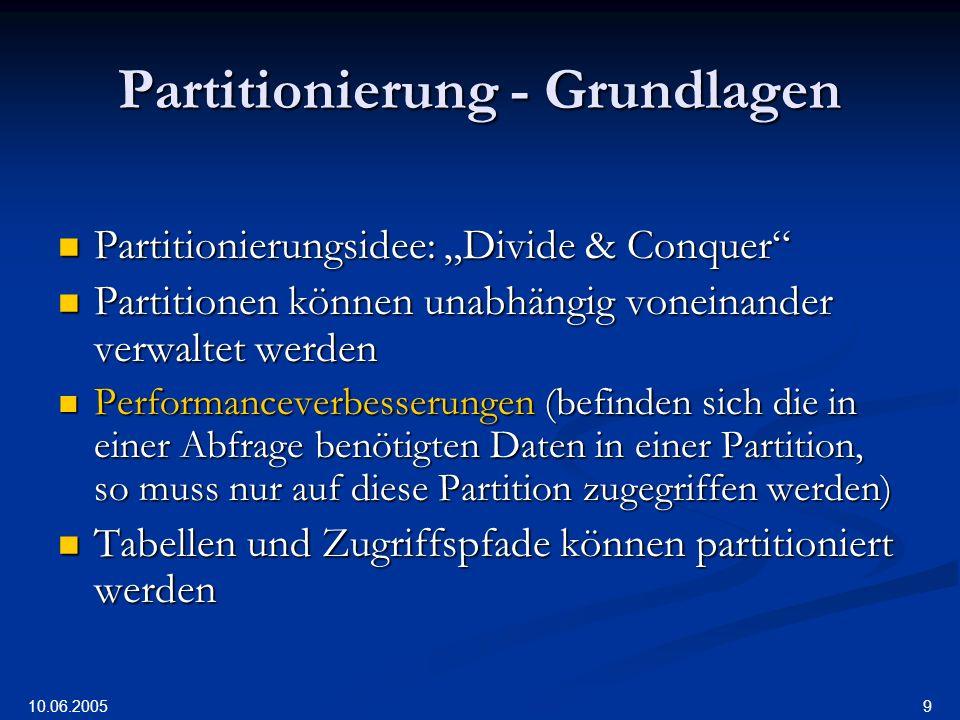 Partitionierung - Grundlagen