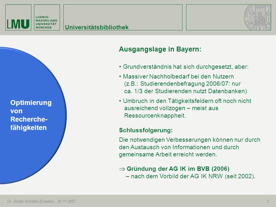 Ausgangslage in Bayern: