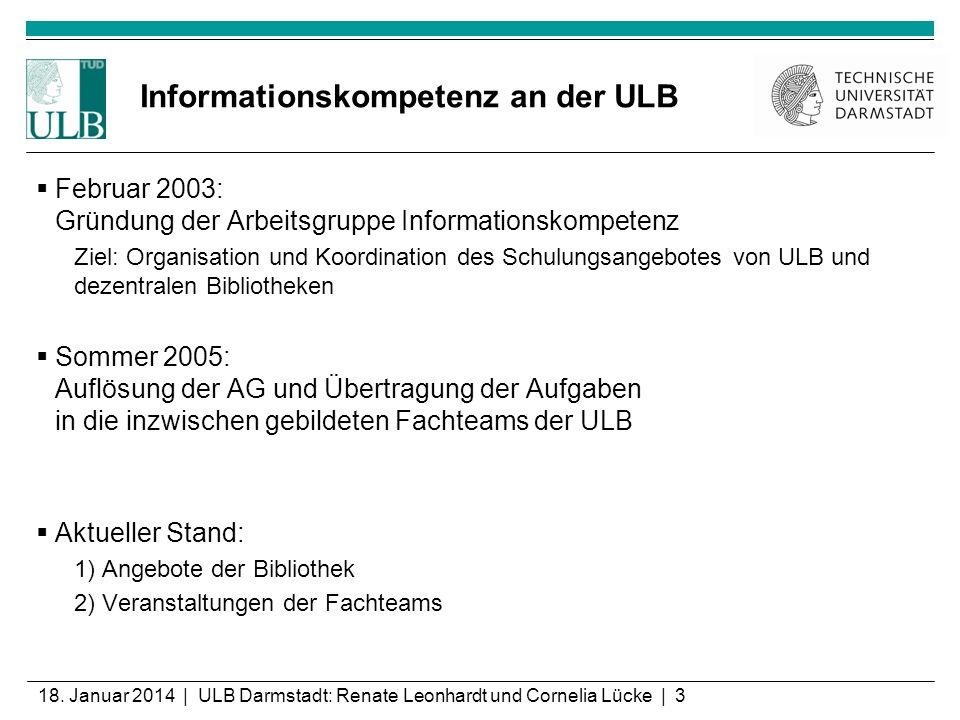 Informationskompetenz an der ULB