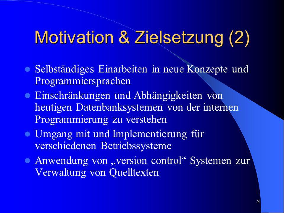 Motivation & Zielsetzung (2)