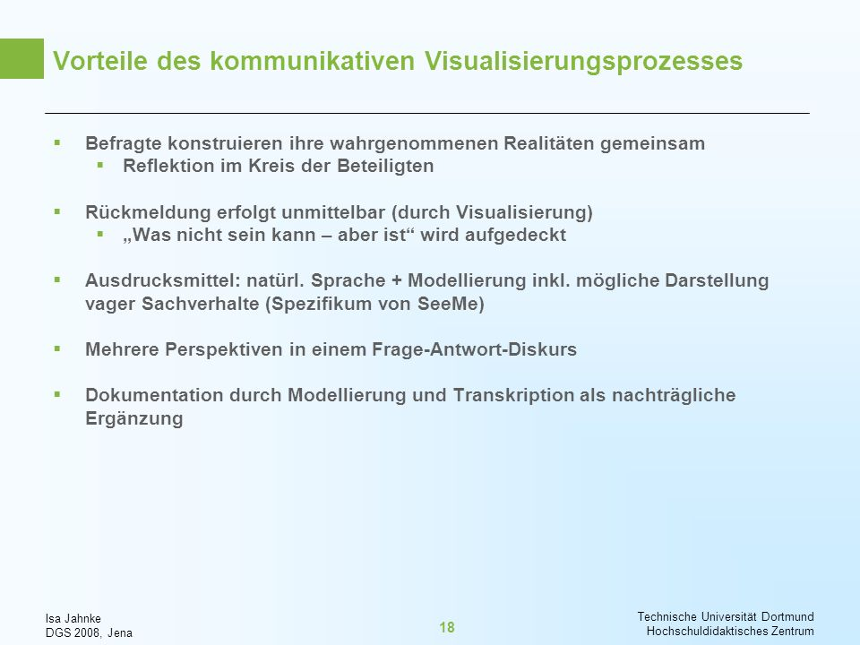 Vorteile des kommunikativen Visualisierungsprozesses