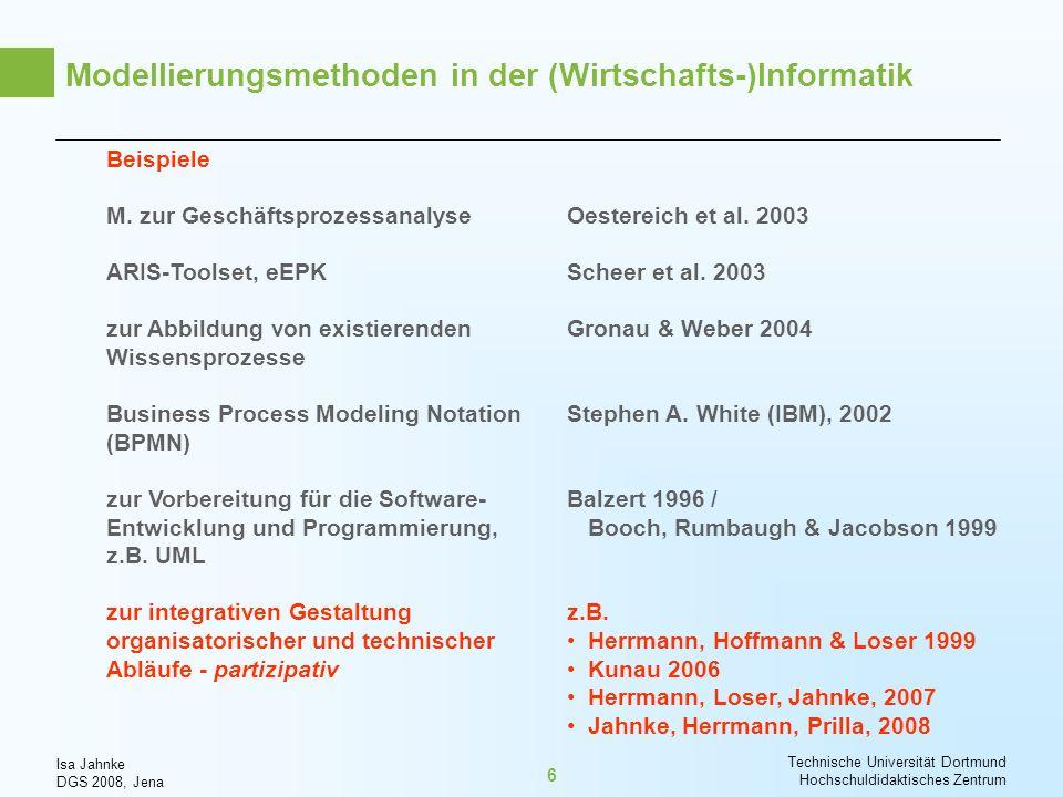 Modellierungsmethoden in der (Wirtschafts-)Informatik