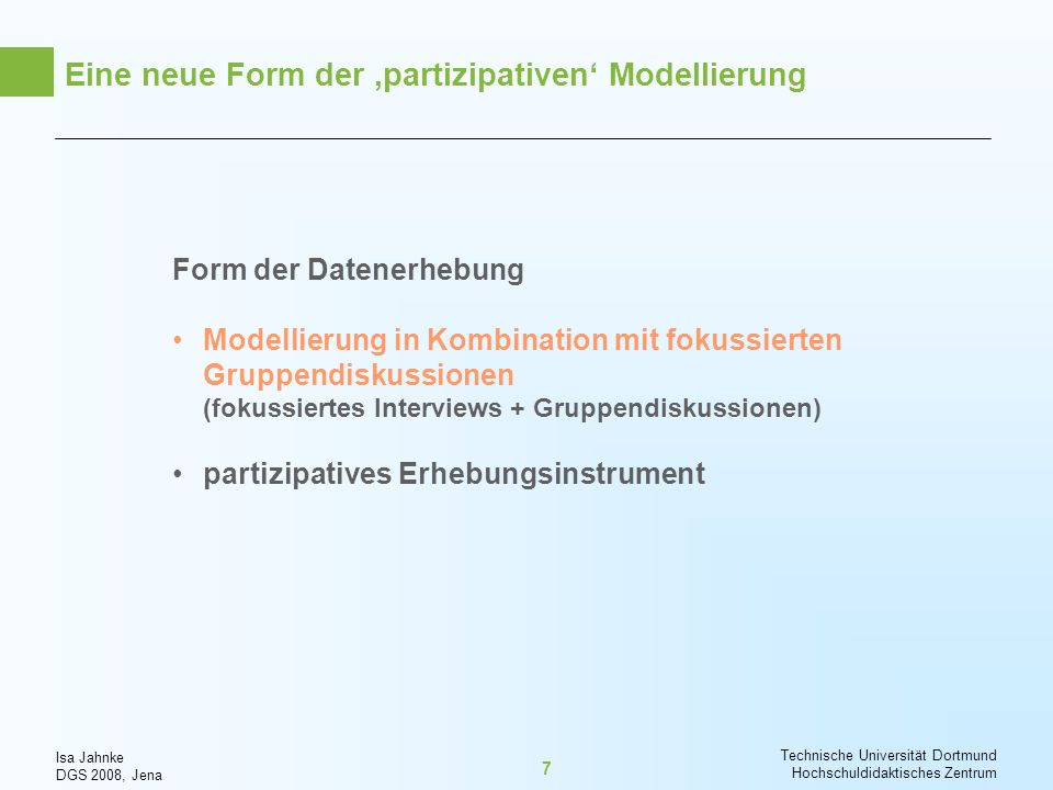 Eine neue Form der 'partizipativen' Modellierung