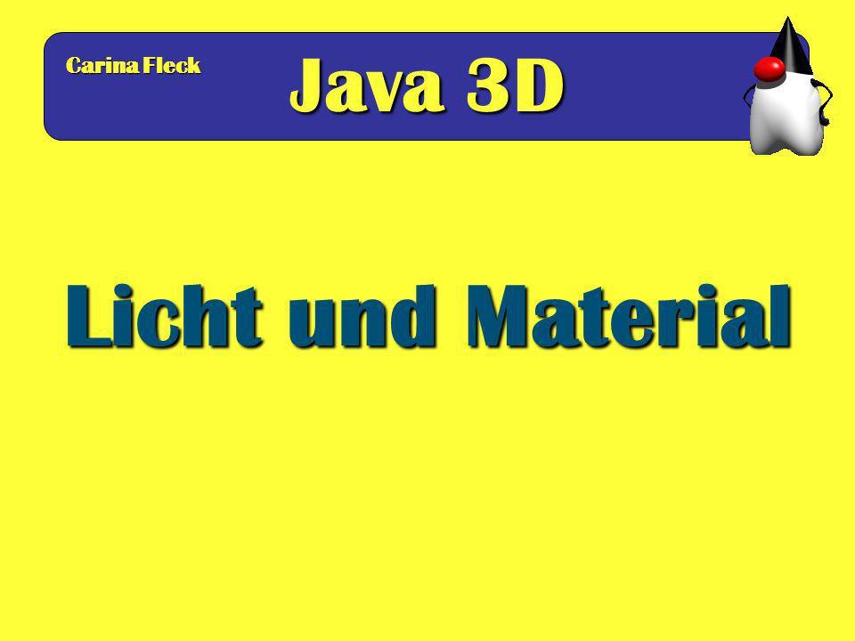Java 3D Carina Fleck Licht und Material