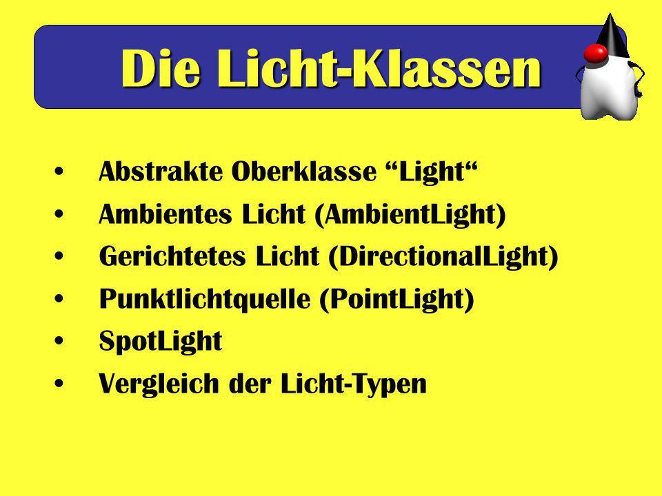 Die Licht-Klassen Abstrakte Oberklasse Light