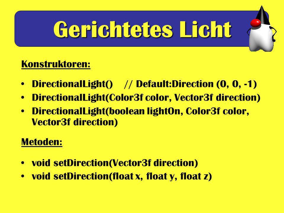 Gerichtetes Licht Konstruktoren: