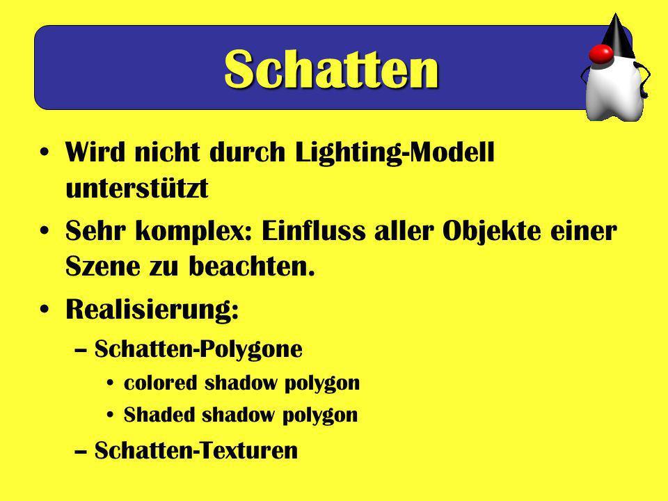 Schatten Wird nicht durch Lighting-Modell unterstützt