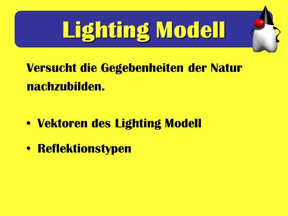 Lighting Modell Versucht die Gegebenheiten der Natur nachzubilden.