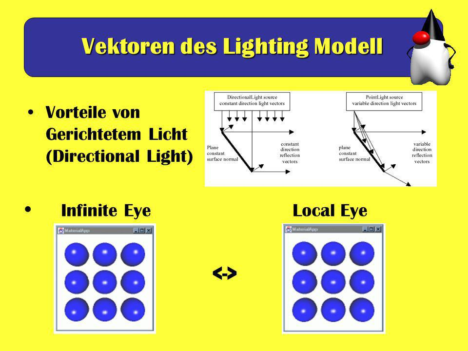 Vektoren des Lighting Modell