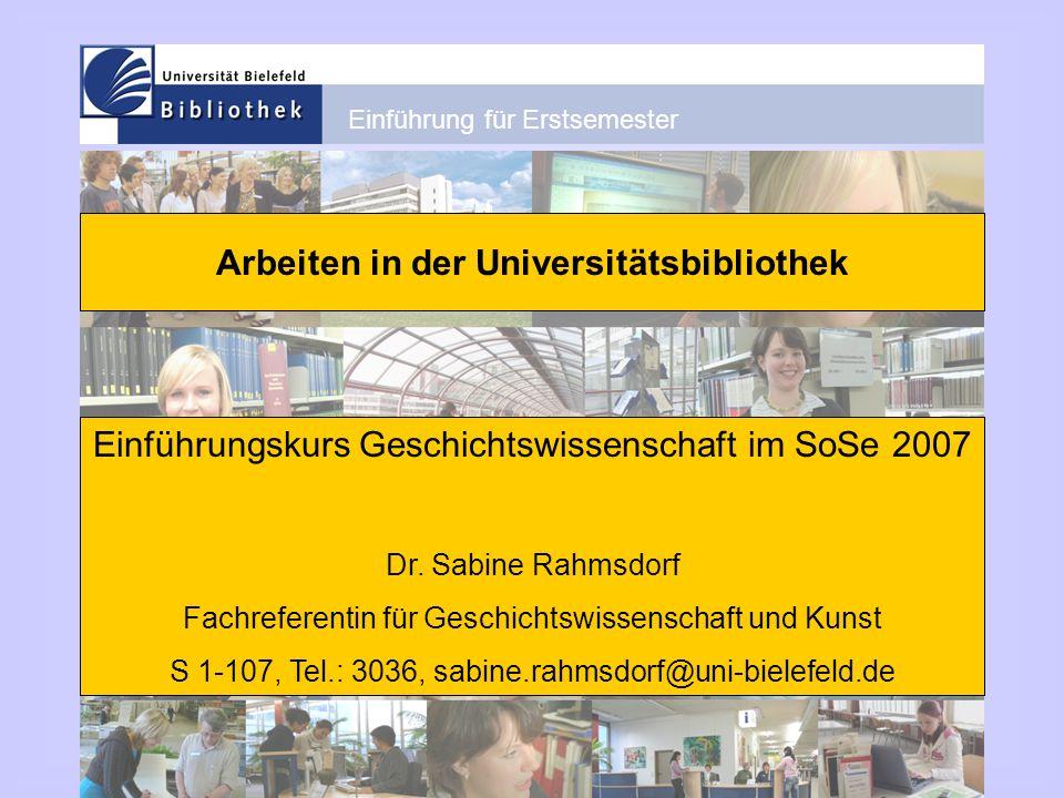 Arbeiten in der Universitätsbibliothek