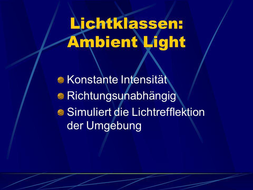 Lichtklassen: Ambient Light