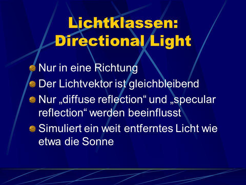 Lichtklassen: Directional Light