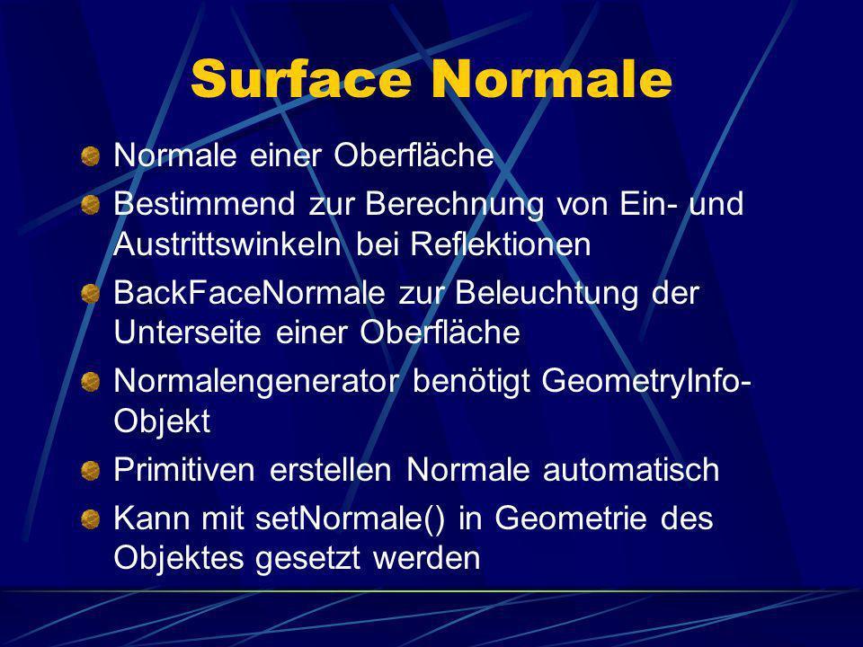 Surface Normale Normale einer Oberfläche
