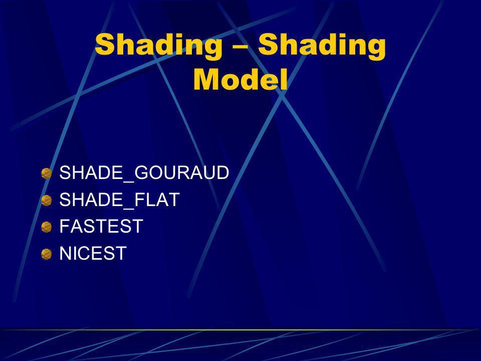 Shading – Shading Model