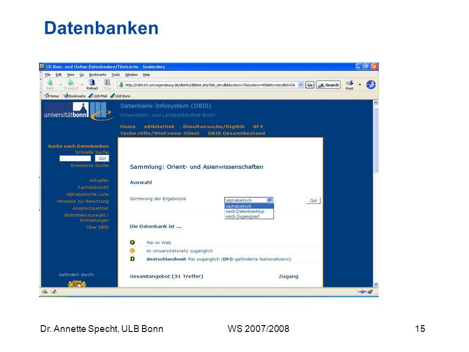 Datenbanken Datenbanken