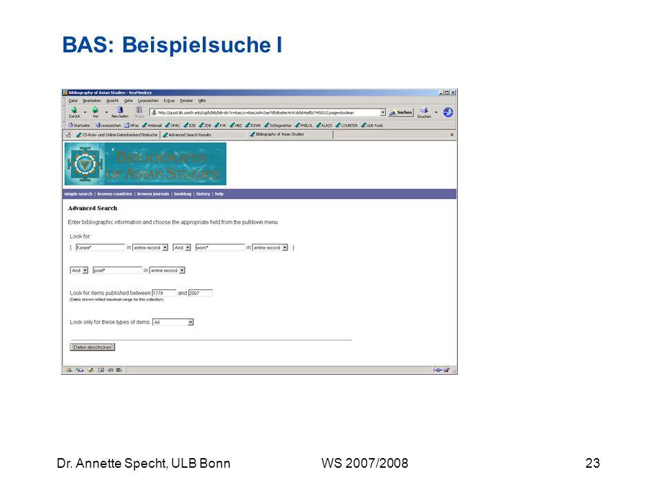 BAS: Beispielsuche I
