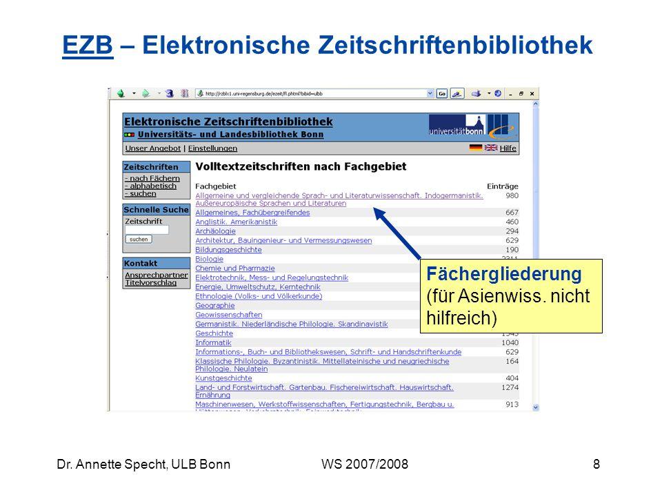 EZB – Elektronische Zeitschriftenbibliothek