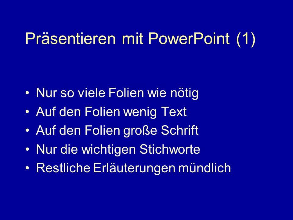 Präsentieren mit PowerPoint (1)
