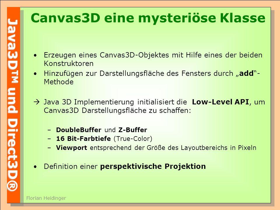 Canvas3D eine mysteriöse Klasse