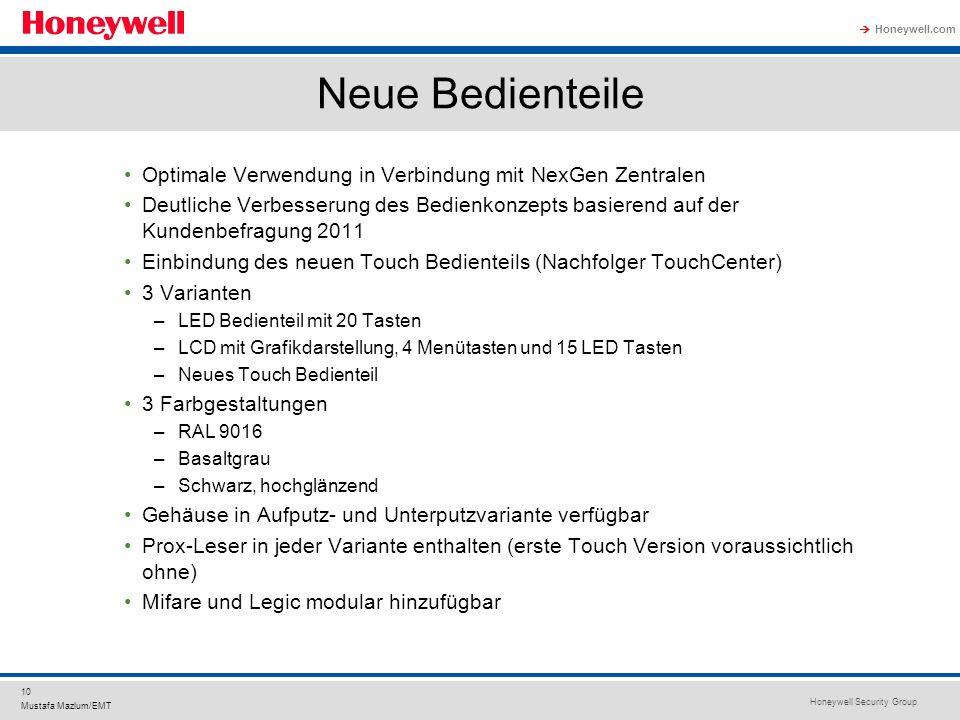 Neue Bedienteile Optimale Verwendung in Verbindung mit NexGen Zentralen.