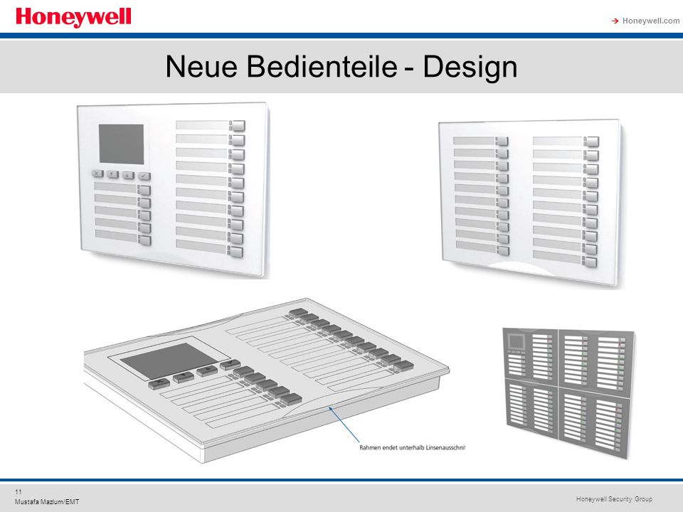 Neue Bedienteile - Design