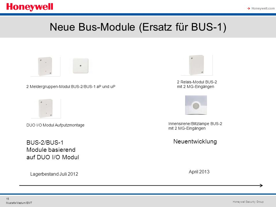 Neue Bus-Module (Ersatz für BUS-1)