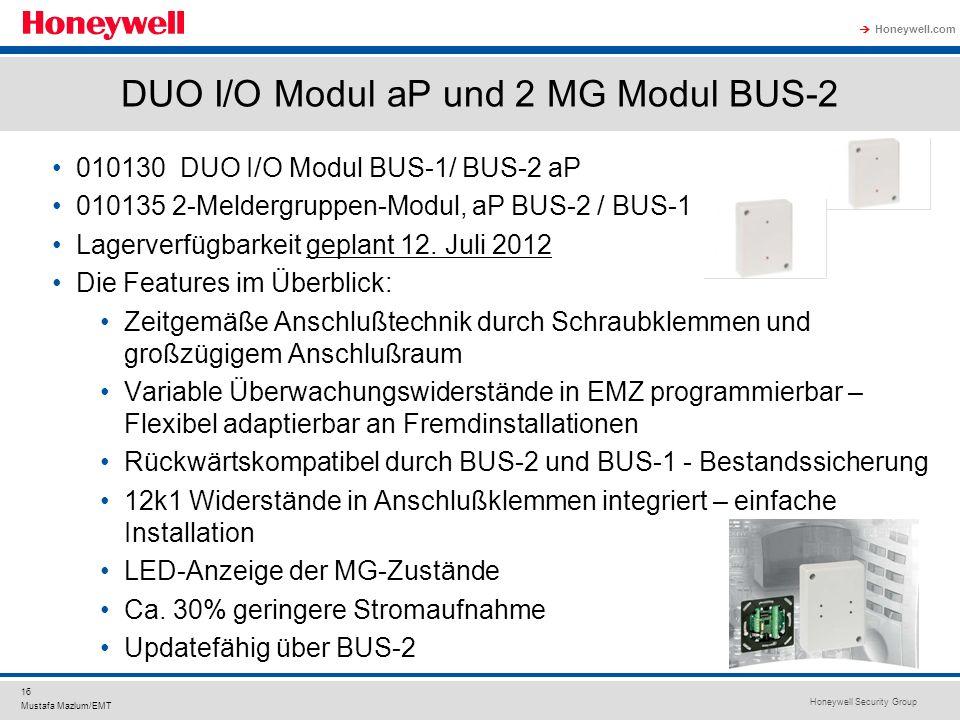 DUO I/O Modul aP und 2 MG Modul BUS-2