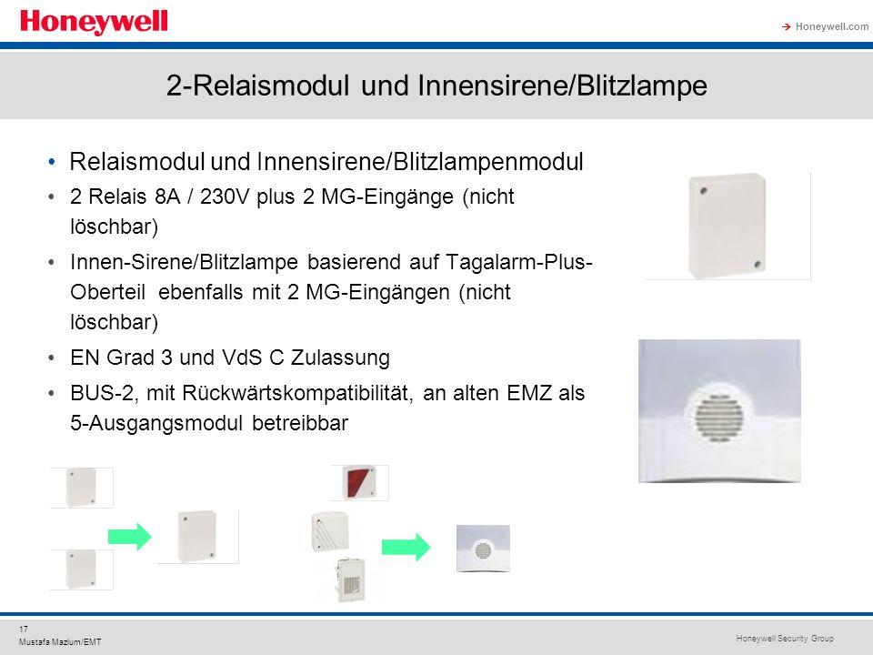 2-Relaismodul und Innensirene/Blitzlampe