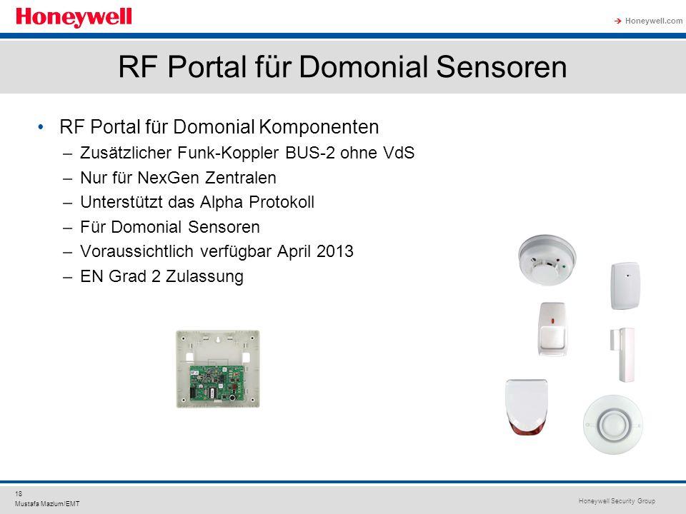 RF Portal für Domonial Sensoren