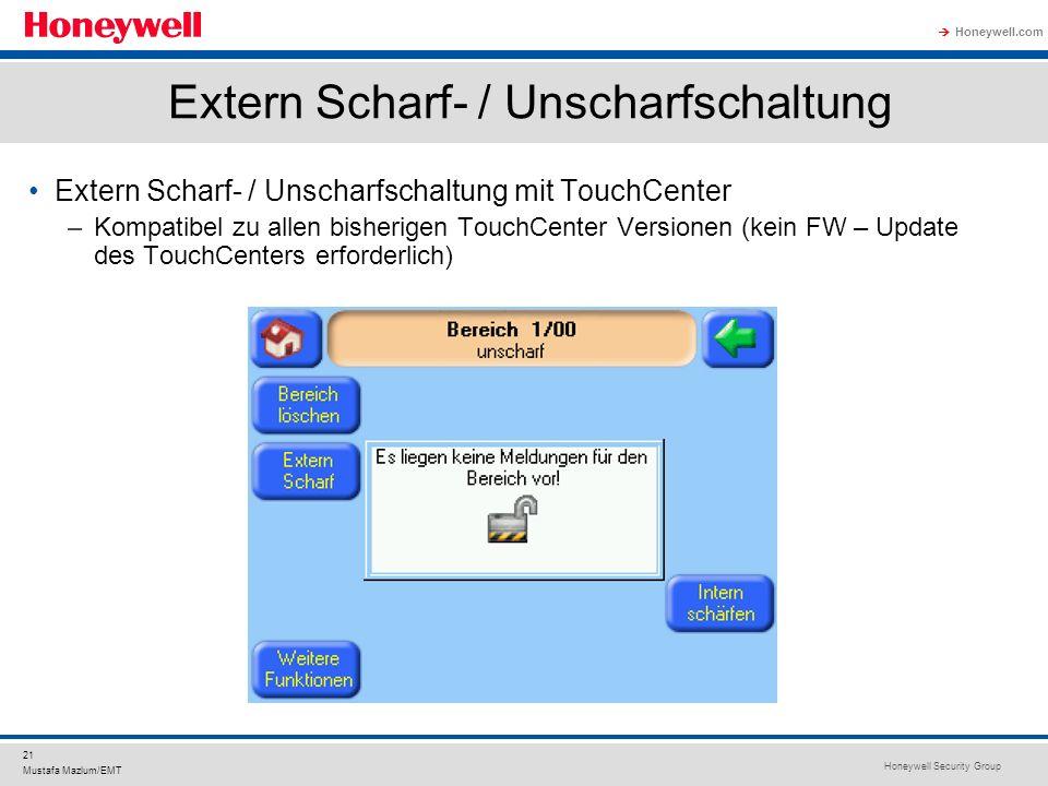 Extern Scharf- / Unscharfschaltung