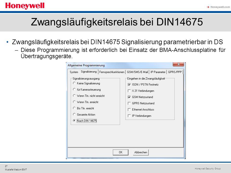 Zwangsläufigkeitsrelais bei DIN14675