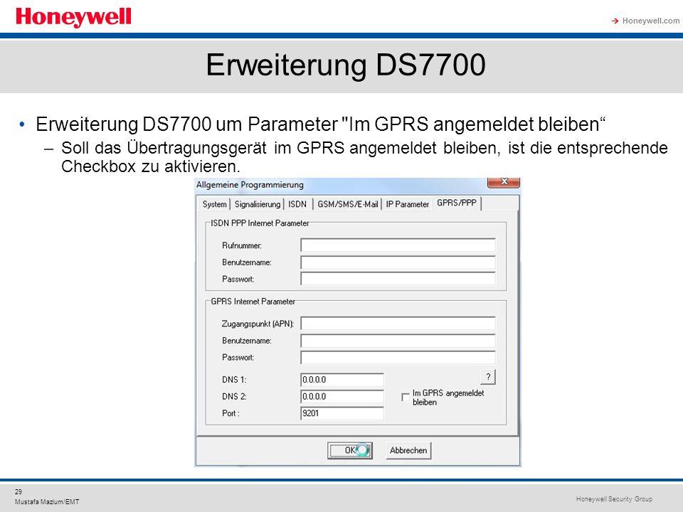 Erweiterung DS7700 Erweiterung DS7700 um Parameter Im GPRS angemeldet bleiben