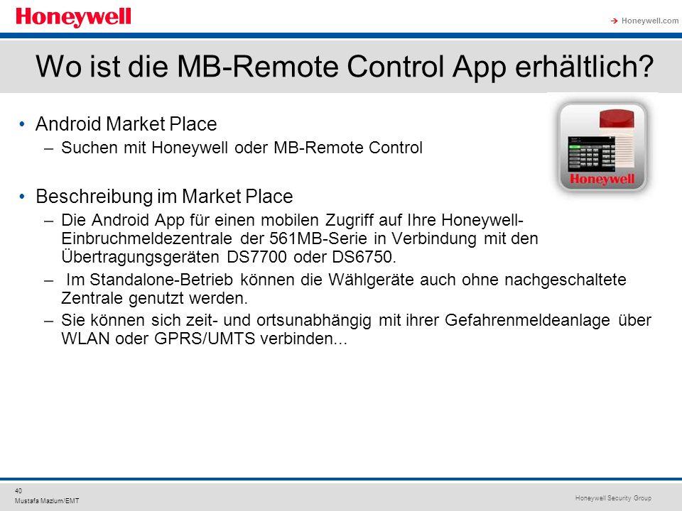 Wo ist die MB-Remote Control App erhältlich