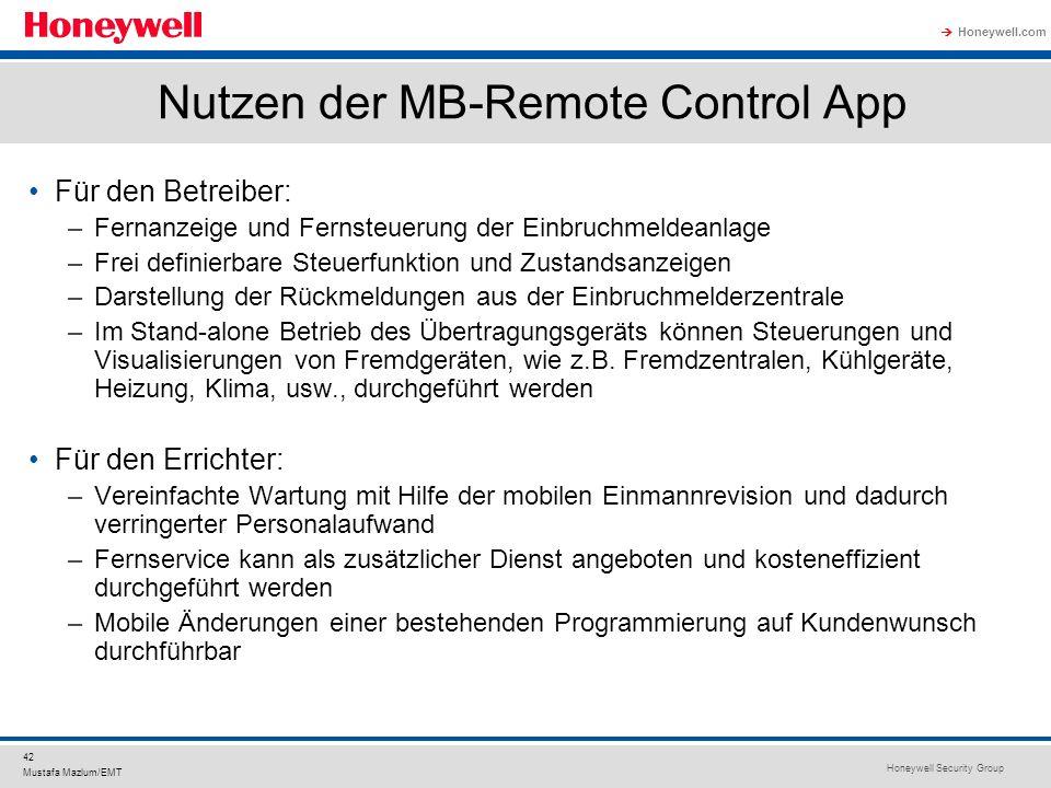 Nutzen der MB-Remote Control App
