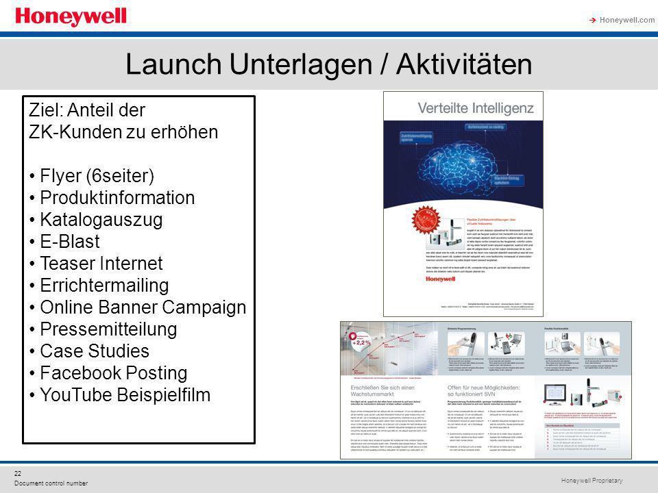 Launch Unterlagen / Aktivitäten