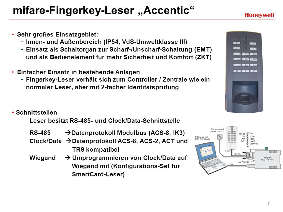 "mifare-Fingerkey-Leser ""Accentic"