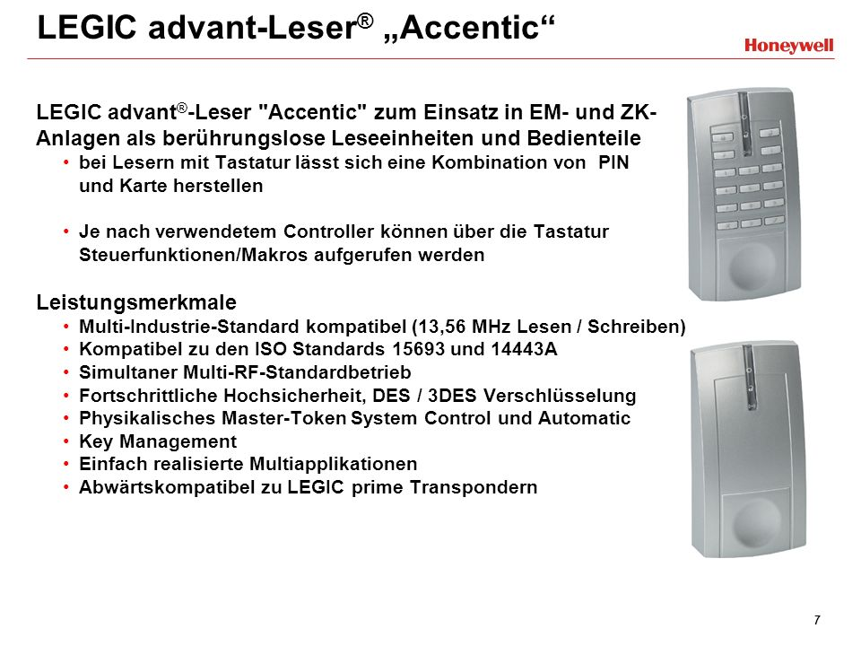 "LEGIC advant-Leser® ""Accentic"