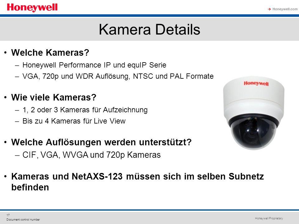 Kamera Details Welche Kameras Wie viele Kameras