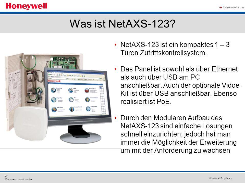 Was ist NetAXS-123 NetAXS-123 ist ein kompaktes 1 – 3 Türen Zutrittskontrollsystem.