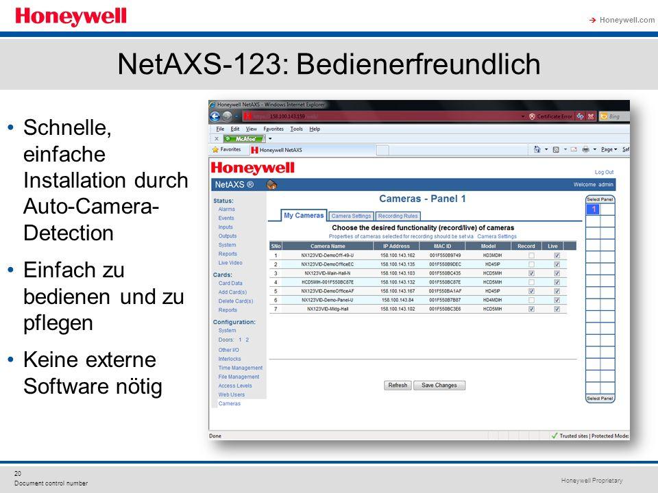 NetAXS-123: Bedienerfreundlich