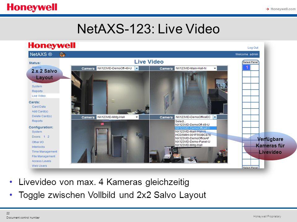 Verfügbare Kameras für Livevideo