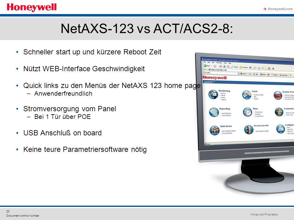 NetAXS-123 vs ACT/ACS2-8: Schneller start up und kürzere Reboot Zeit